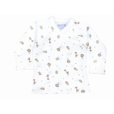 <strong>Under the Nile</strong> Nature's Nursery Long Sleeve Side Snap Shirt in Animal Print