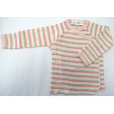 <strong>Under the Nile</strong> Twenty-Four Seven Long Sleeve Side Snap Shirt in Pink Stripes