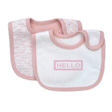 <strong>Under the Nile</strong> Hello Goodbye Print Bib (Set of 2)