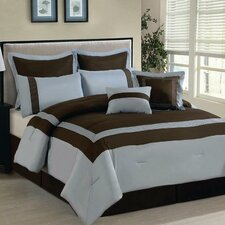 <strong>Luxury Home</strong> Ileana 8 Piece Comforter Set