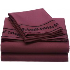 Ruby Microfiber Sheet Set
