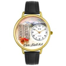 Unisex Ten Commandments Watch in Gold