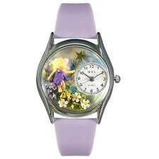 "Women""s Women""s Fairy Lavender Leather and Silvertone Watch in Silver"