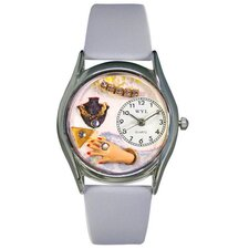 Women's Jewelry Lover Blue Baby Blue Leather and Silvertone Watch in Silver