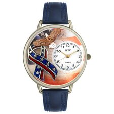 Unisex American Patriotic Watch in Silver