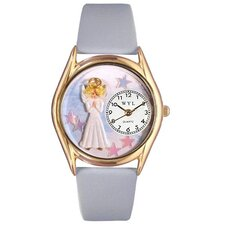 Women's Angel Baby Blue Leather and Gold Tone Watch