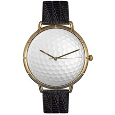 Unisex Golf Lover Photo Watch with Black Leather