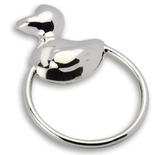 Duck Ring Sterling Silver Baby Rattle