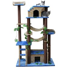 "<strong>Kitty Mansions</strong> 78"" Amazon Cat Tree"