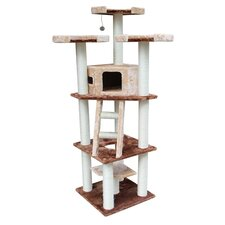 "75"" Hollywood Cat Tree in Brown and Beige"