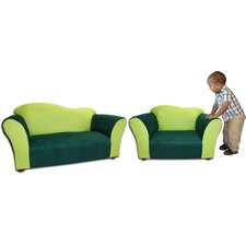 <strong>Fantasy Furniture</strong> Kid's Fancy Microsuede Sofa and Chair Set