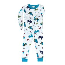 <strong>New Jammies</strong> Mitted Jammie Stallion Boys Organic Pajama