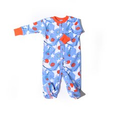 <strong>New Jammies</strong> Organic All Star Sport Footie