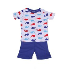 Organic Whales Pajama Short Set
