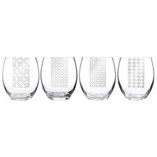 Social Ave Assorted Stemless Wine Glass (Set of 4)