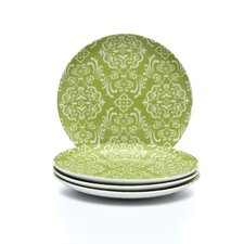 "Curly-Q Green 8"" Salad & Dessert Plate (Set of 4)"