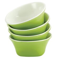 "<strong>Rachael Ray</strong> 4-Piece Round and Square Stoneware 8.75"" Fruit Bowl Set"