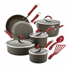 Cucina Hard-Anodized Nonstick 12-Piece Cookware Set with Handle