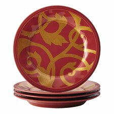 Gold Scroll Salad Plate Set (Set of 4)