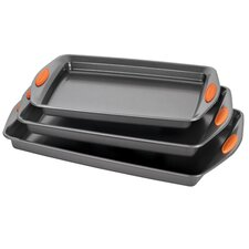 Yum-O Nonstick 3 Piece Cookie Pan Set
