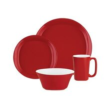 Round and Square Dinnerware 4-Piece Place Setting
