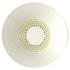 Circles and Dots 4-Piece Stoneware Fruit Bowl Set (Set of 4)
