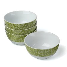 Curly-Q Green 18 oz. Cereal Bowl (Set of 4)