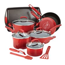 Hard Enamel Nonstick 14 Piece Cookware Set
