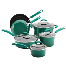 Hard Enamel Nonstick 10 Piece Cookware Set