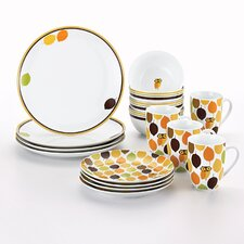 Little Hoot 16 Piece Dinnerware Set