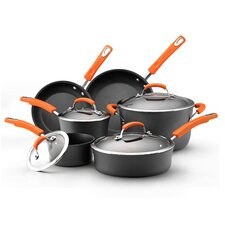 Hard-Anodized Nonstick 10-Piece Cookware Set
