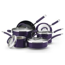 <strong>Rachael Ray</strong> Stainless Steel 10-Piece Cookware Set