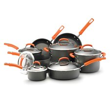 Hard-Anodized II Dishwasher Safe Nonstick 14 Piece Cookware Set
