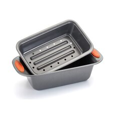 <strong>Rachael Ray</strong> Yum-O Nonstick 2-Piece Meat Loaf Pan