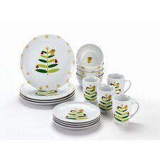 <strong>Rachael Ray</strong> Holiday Hoot Dinnerware Set