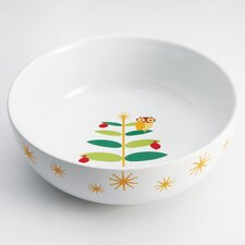 "Holiday Hoot 10"" Round Serving Bowl"