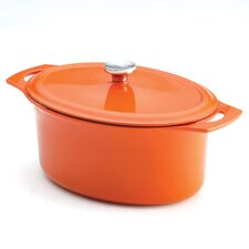 Cast Iron 6.5-Quart Covered Oval Casserole
