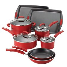 <strong>Rachael Ray</strong> Porcelain II Nonstick 12-Piece Cookware Set