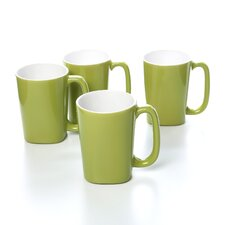 Dinnerware Round and Square 14 oz. Mug (Set of 4)