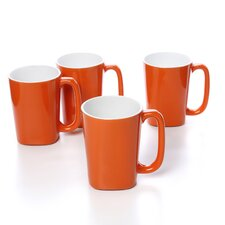 Round and Square 14 oz. Mug (Set of 4)
