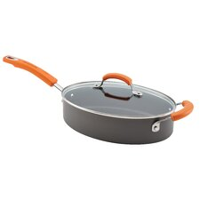 Hard Anodized II Nonstick 3 Qt. Covered Oval Saute