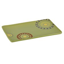 <strong>Rachael Ray</strong> Circles and Dots Rectangular Serving Platter