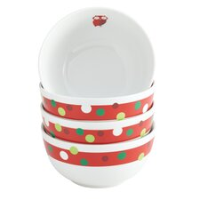 Hoot's Decorated Tree Set of 4 Cereal Bowls (Set of 4)
