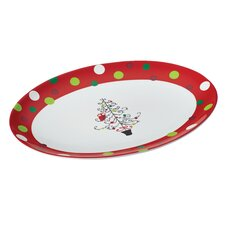 <strong>Rachael Ray</strong> Hoot's Decorated Tree Oval Platter