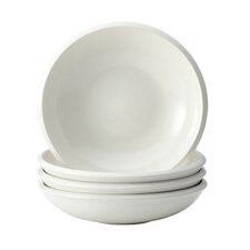 Rise 4-Piece Stoneware Soup and Pasta Bowl Set