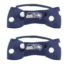 NFL Bow Pigtail Holder