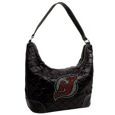 NHL Sport Noir Quilted Hobo Bag