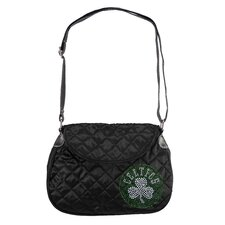 NBA Sport Noir Quilted Saddlebag Purse