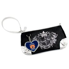 NCAA Sport Luxe Fan Football Wristlet Bag