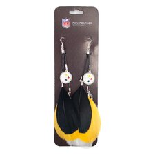 NFL Fan Feather Earrings